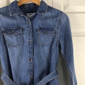Old Navy Denim Shirt Dress XL 12 Blue Jean